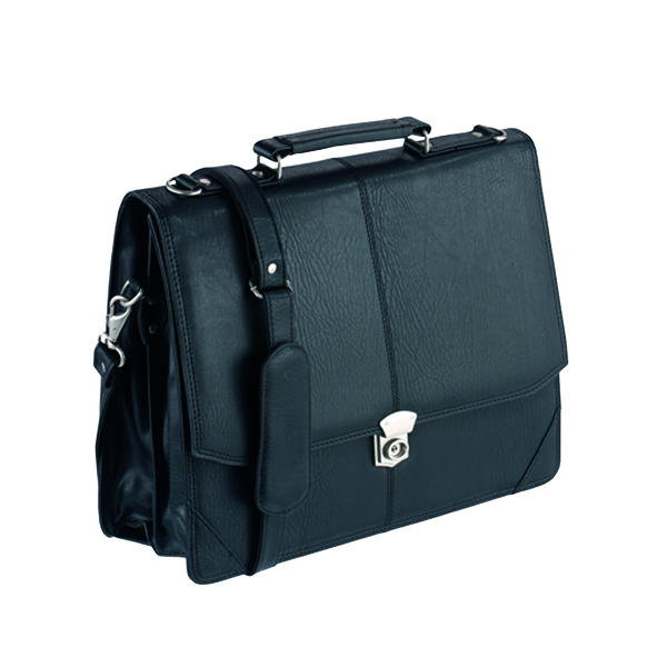 FALCON SYNTH LEATHER FLAPOVER BRIEFCASE