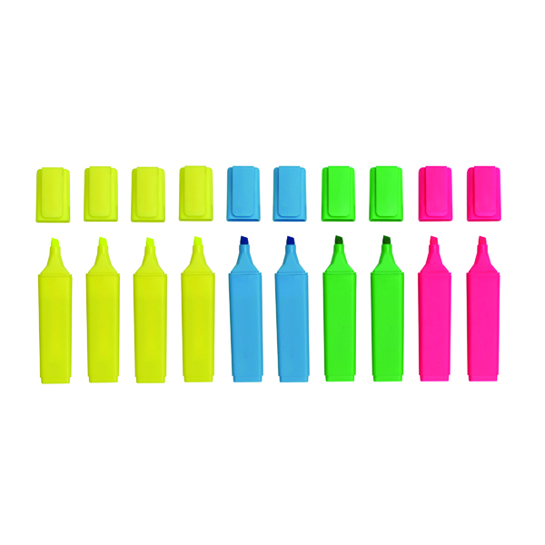 WB HIGHLIGHTERS ASSORTED PK10